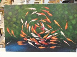 Fish oil painting